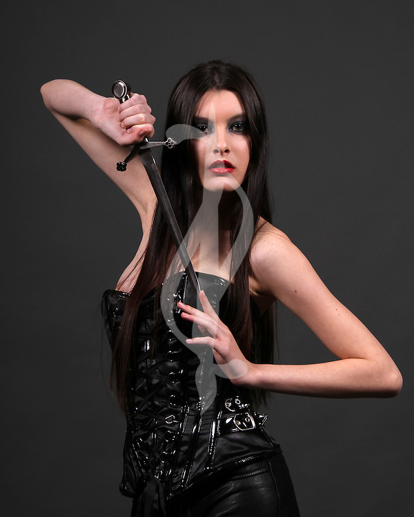 female model posing in an urban fantasy outfit Urban Fantasy/Paranormal Female