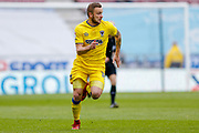 AFC Wimbledon midfielder Dean Parrett (18) in action  during the EFL Sky Bet League 1 match between Wigan Athletic and AFC Wimbledon at the DW Stadium, Wigan, England on 28 April 2018. Picture by Simon Davies.