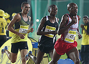 STELLENBOSCH, SOUTH AFRICA, Tuesday 20 March 2012, Gladwin Mzazi (45) leads Tony Wamulwa (101) and Elroy Gelant (37) in the mens 5000m during the Yellow Pages Series athletics meeting at the University of Stellenbosch Coetzenburg stadium..Photo by Roger Sedres/Image SA