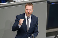 08 NOV 2018, BERLIN/GERMANY:<br /> Christoph Matschie, MdB, SPD, Bundestagsdebatte zum sog. Global Compact fuer Migration, Plenum, Deutscher Bundestag<br /> IMAGE: 20181108-01-037<br /> KEYWORDS: Sitzung