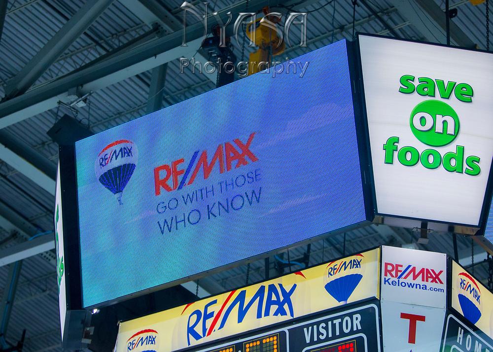KELOWNA, CANADA - SEPTEMBER 29:  ReMax Promotion at the Kelowna Rockets game on September 29, 2017 at Prospera Place in Kelowna, British Columbia, Canada.  (Photo By Cindy Rogers/Nyasa Photography,  *** Local Caption ***