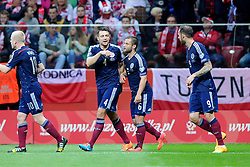14.10.2014, Nationalstadium, Warsaw, POL, UEFA Euro Qualifikation, Polen vs Schottland, Gruppe D, im Bild SHAUN MALONEY, RADOSC BRAMKA GOL 1:1 // during the UEFA EURO 2016 Qualifier group D match between Poland and Scotland at the Nationalstadium in Warsaw, Poland on 2014/10/14. EXPA Pictures © 2014, PhotoCredit: EXPA/ Newspix/ Michal Stanczyk<br /> <br /> *****ATTENTION - for AUT, SLO, CRO, SRB, BIH, MAZ, TUR, SUI, SWE only*****