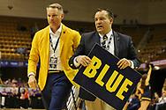 March 4, 2018 - Asheville, North Carolina - U.S. Cellular Center: ETSU President Dr. Brian Noland & ETSU Athletic Director Scott Carter<br /> <br /> Image Credit: Dakota Hamilton/ETSU