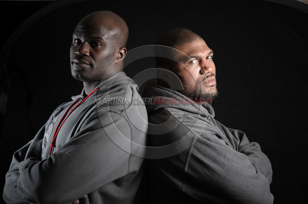 "Portrait of mixed martial arts athletes Cheick Kongo (L) and Quinton ""Rampage"" Jackson"