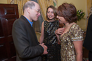 ALAIN DE BOTTON; CHARLOTTE DE BOTTON; KATHY LETTE, Tatler magazine Jubilee party with Thomas Pink. The Ritz, Piccadilly. London. 2 May 2012