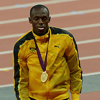 Medal ceremony men's 100m