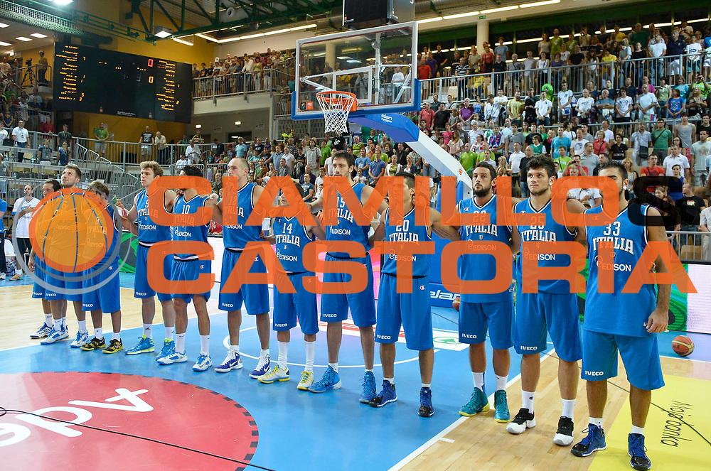 DESCRIZIONE : Capodistria Koper Italia Slovenia Italy Slovenja<br /> GIOCATORE : team italia<br /> CATEGORIA : before<br /> SQUADRA : Nazionale Italia Maschile Uomini<br /> EVENTO :  Capodistria Partita Amichevole<br /> GARA : Italia Slovenia Italy Slovenja<br /> DATA : 24/08/2013<br /> SPORT : Pallacanestro<br /> AUTORE : Agenzia Ciamillo-Castoria/R.Morgano<br /> Galleria : FIP Nazionali 2013<br /> Fotonotizia : Capodistria Koper Italia Slovenia Italy Slovenja<br /> Predefinita :