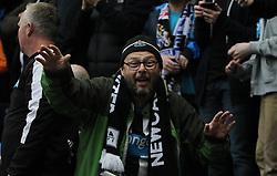 A fan celebrates after Aleksandar Mitrovic of Newcastle United scored his sides second goal - Mandatory by-line: Jack Phillips/JMP - 29/10/2016 - FOOTBALL - Deepdale - Preston, England - Preston North End v Newcastle United - EFL Championship