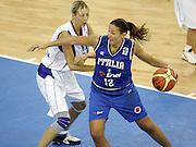 DESCRIZIONE : Ortona Italy Italia Eurobasket Women 2007 Serbia Italia Serbia Italy <br /> GIOCATORE : Federica Ciampoli <br /> SQUADRA : Nazionale Italia Donne Femminile EVENTO : Eurobasket Women 2007 Campionati Europei Donne 2007 <br /> GARA : Serbia Italia Serbia Italy <br /> DATA : 01/10/2007 <br /> CATEGORIA : Palleggio <br /> SPORT : Pallacanestro <br /> AUTORE : Agenzia Ciamillo-Castoria/H.Bellenger Galleria : Eurobasket Women 2007 <br /> Fotonotizia : Ortona Italy Italia Eurobasket Women 2007 Serbia Italia Serbia Italy <br /> Predefinita :