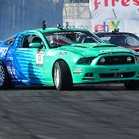 Justin Pawlak competing in the Formula DRIFT 2012 at Toyota Grand Prix of Long Beach Street Course