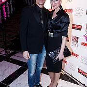 NLD/Amsterdam/20131111 - Beau Monde Awards 2013, Winston Post en partner Denise van Ruiswijk