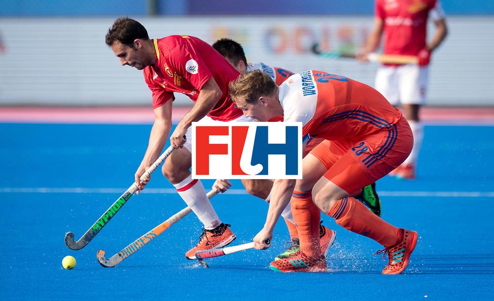 Odisha Men's Hockey World League Final Bhubaneswar 2017<br /> Match id:04<br /> Netherlands vs Spain<br /> Foto: Marc Garcia (Esp) and Floris Wortelboer (Ned) <br /> WORLDSPORTPICS COPYRIGHT FRANK UIJLENBROEK