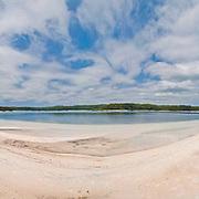 Lake McKenzie, fresh water lake on Fraser Island, Queensland, Fraser Island is a national park.