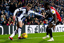 Harvey Barnes of West Bromwich Albion takes on Moses Odubajo of Brentford - Mandatory by-line: Robbie Stephenson/JMP - 03/12/2018 - FOOTBALL - The Hawthorns - West Bromwich, England - West Bromwich Albion v Brentford - Sky Bet Championship