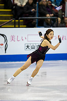 KELOWNA, BC - OCTOBER 25:  Japanese figure skater Marin Honda competes at Skate Canada International in the ladies short program at Prospera Place on October 25, 2019 in Kelowna, Canada. (Photo by Marissa Baecker/Shoot the Breeze)