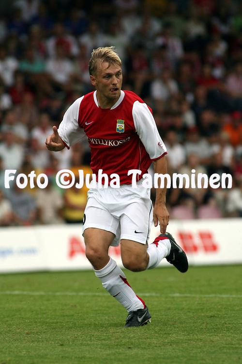 16.08.2007, Anjalankoski, Finland..UEFA Cup, 2nd Qualifying round, 1st leg match.Myllykosken Pallo-47 - Blackburn Rovers.Toni Huttunen - MyPa.©Juha Tamminen.....ARK:k