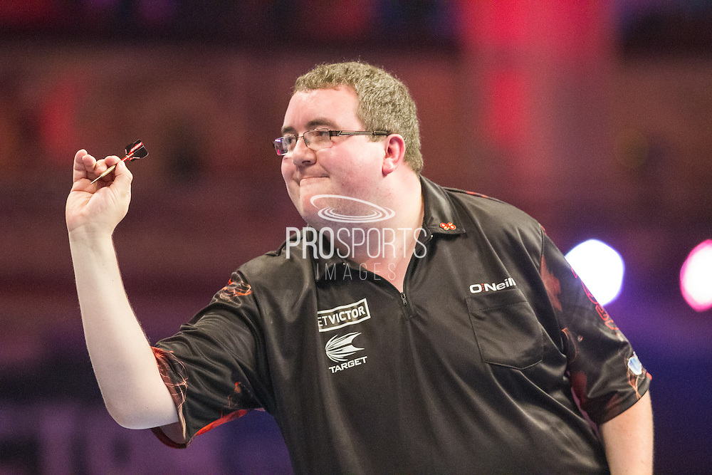Stephen Bunting during the First Round of the BetVictor World Matchplay Darts at the Empress Ballroom, Blackpool, United Kingdom on 19 July 2015. Photo by Shane Healey.