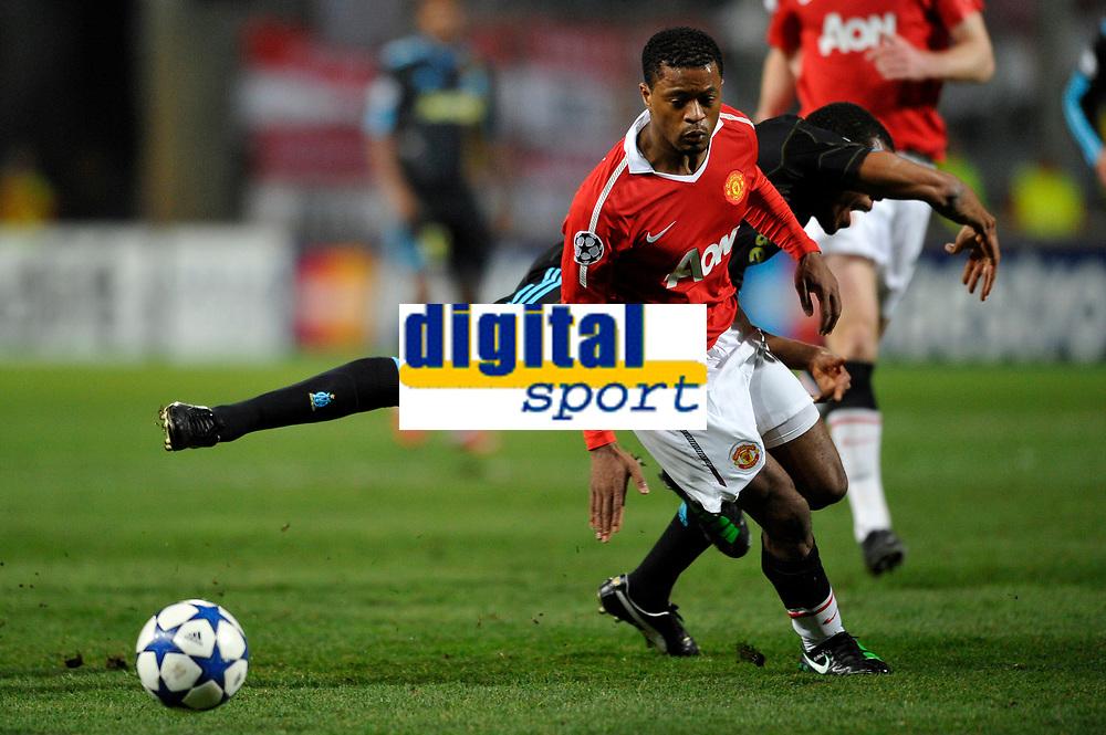 FOOTBALL - CHAMPIONS LEAGUE 2010/2011 - 1/8 FINAL - 1ST LEG - OLYMPIQUE MARSEILLE v MANCHESTER UNITED - 23/02/2011 - PHOTO GUY JEFFROY / DPPI - PATRICE EVRA (MU)
