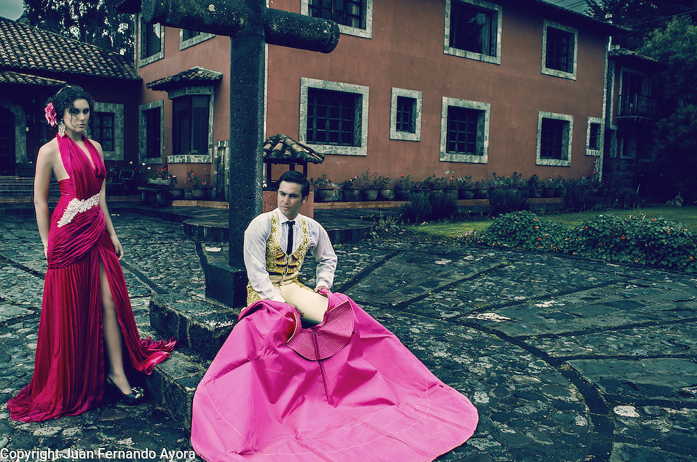 GOYA inspired editorial, photographed by Juan Fernando Ayora for CARAS Ecuador at Hacienda Hato Verde in Mulalo.