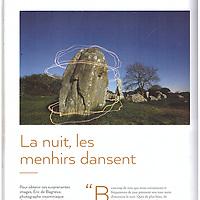 Publication de Eric Frotier de Bagneux dans le livre des Menhirs et des Hommes edité par Paysages de Mégalithes et les éditions Blanc Noir.