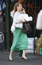 © Licensed to London News Pictures. 12/10/2015. London, UK. Actress Renee Zellwegger films Bridget Jones Diary in Borough Market. Photo credit: Peter Macdiarmid/LNP