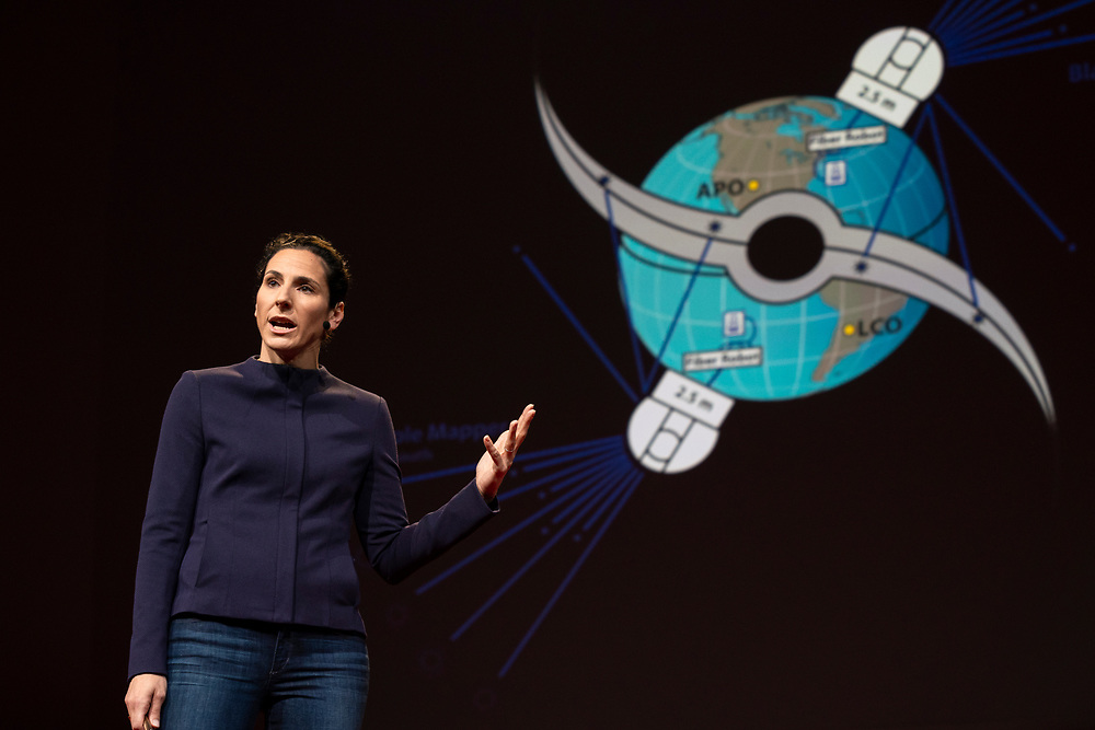 Juna Kollmeier speaks at TED2019: Bigger Than Us. April 15 - 19, 2019, Vancouver, BC, Canada. Photo: Bret Hartman / TED