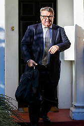 © Licensed to London News Pictures. 14/10/2015. London, UK. Deputy Leader of the Labour Party TOM WATSON leaving his London home to attend Prime Minister's Questions on Wednesday, 14 October 2015. Photo credit: Tolga Akmen/LNP