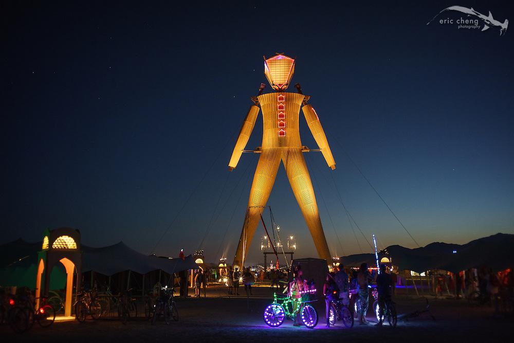 The Man and souks. Burning Man 2014.