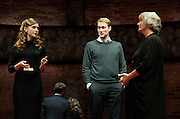 King Charles III<br /> at Wyndhams Theatre, Charing Cross Road, London, Great Britain <br /> press photocall <br /> 8th September 2014 <br /> <br /> Tim Pigott-Smith as Charles<br /> <br /> Margot Leicester as Camilla<br /> <br /> Lydia Wilson as Kate<br /> <br /> Oliver Chris as William<br /> <br /> Richard Goulding as Harry <br /> <br /> Miles Richardson as James Reiss<br /> <br /> Adam James as Mr Evans<br /> <br /> Photograph by Elliott Franks <br /> Image licensed to Elliott Franks Photography Services