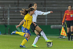 26.10.2011, Millerntor-Stadion, Hamburg, GER, FSP, Deutschland vs Schweden, im Bild Sofia Jakobsson (Schweden #10), Fatmire Bajramaj (Deutschland #19)..// during the friendly match Deutschland vs Schweden on 2011/10/26, Millerntor-Stadion, Hamburg, Germany..EXPA Pictures © 2011, PhotoCredit: EXPA/ nph/  Frisch       ****** out of GER / CRO  / BEL ******