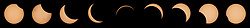 This composite image of nine pictures shows the progression of a partial solar eclipse near Banner, Wyoming on Monday, Aug. 21, 2017. A total solar eclipse swept across a narrow portion of the contiguous United States from Lincoln Beach, Oregon to Charleston, South Carolina. A partial solar eclipse was visible across the entire North American continent along with parts of South America, Africa, and Europe.  Photo Credit: (NASA/Joel Kowsky)  Please note: Fees charged by the agency are for the agency's services only, and do not, nor are they intended to, convey to the user any ownership of Copyright or License in the material. The agency does not claim any ownership including but not limited to Copyright or License in the attached material. By publishing this material you expressly agree to indemnify and to hold the agency and its directors, shareholders and employees harmless from any loss, claims, damages, demands, expenses (including legal fees), or any causes of action or allegation against the agency arising out of or connected in any way with publication of the material.