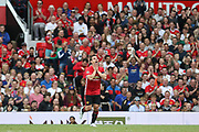 Manchester United 08 XI Gary Neville reacts after his missed shot during the Michael Carrick Testimonial Match between Manchester United 2008 XI and Michael Carrick All-Star XI at Old Trafford, Manchester, England on 4 June 2017. Photo by Phil Duncan.