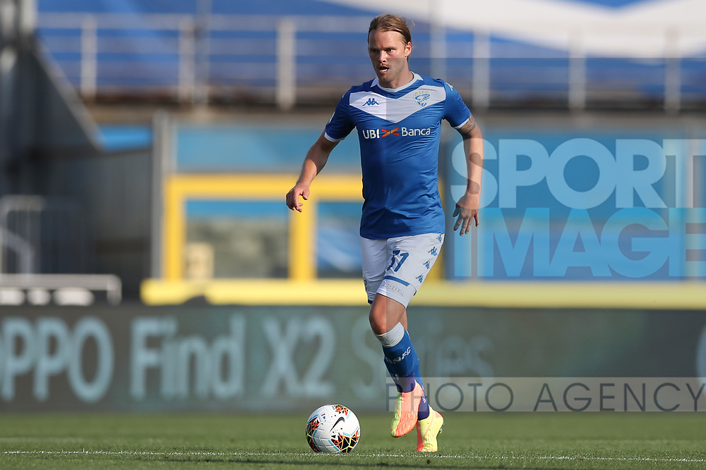 Brescia Calcio's Icelandic midfielder Birkir Bjarnason during the Serie A match at Stadio Mario Rigamonti, Brescia. Picture date: 27th June 2020. Picture credit should read: Jonathan Moscrop/Sportimage
