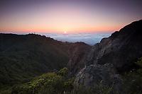 Mount Tamalpais East Peak Sunset, Marin County, California