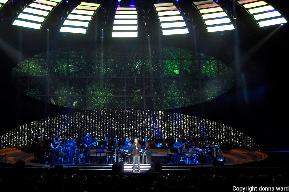 Josh Groban performs at Madison Square Garden in midtown on Monday, March 12, 2007 in New York.