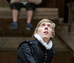 The Tempest By William Shakespeare, The Globe Theatre, London, Great Britain..Directed by Jeremy Herrin, designed by Max Jones, music by Stephen Warbeck..Joshua James .Ferdinand, on April 26, 2013, on April 29, 2013. Photo by Elliott Franks / i-Images. .