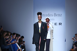 July 3, 2018 - Berlin, Berlin-Mitte, Germany - Berlin: The photo shows a model on the catwalk with the spring/summer 2019  collection by the Botter. (Credit Image: © Simone Kuhlmey/Pacific Press via ZUMA Wire)