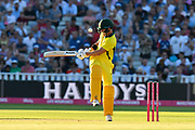 Wicket - D'Arcy Short of Australia clips the ball behind him and is caught by Moeen Ali of England off the bowling of Liam Plunkett of England during the International T20 match between England and Australia at Edgbaston, Birmingham, United Kingdom on 27 June 2018. Picture by Graham Hunt.