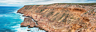 Red Bluff Beach of Kalbarri, Western Australia in panaroma