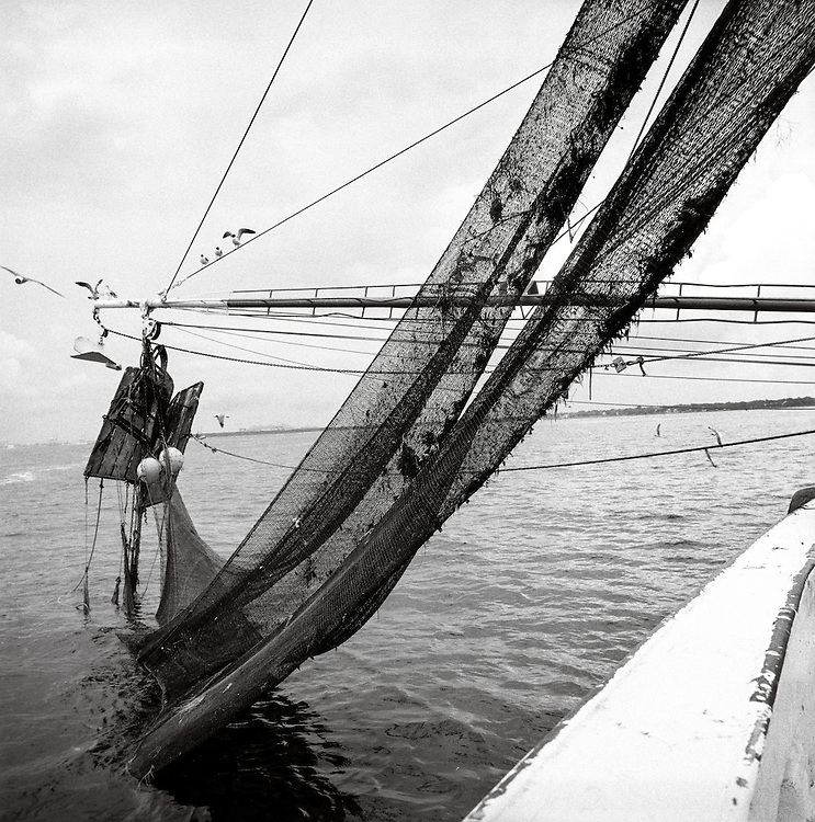 Nets and Doors on the shrimp trawler The Wind's of Fortune