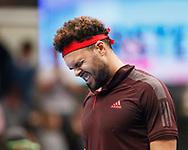 JO-WILFRIED TSONGA (FRA) jubelt nach seinem Sieg,Einzelbild, Halbkoerper, Portrait, Portrait, Emotion, <br /> <br /> Tennis - ERSTE BANK OPEN 2017 - ATP 500 -  Stadthalle - Wien -  - Oesterreich  - 28 October 2017. <br /> © Juergen Hasenkopf