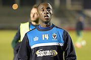 Ade Azeez of AFC Wimbledon during the Sky Bet League 2 match between Northampton Town and AFC Wimbledon at Sixfields Stadium, Northampton, England on 1 March 2016. Photo by Dennis Goodwin.