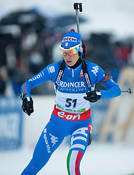 PONZA Michela of Italy competes during Women 10 km Pursuit competition of the e.on IBU Biathlon World Cup on Thursday, December 15, 2012 in Pokljuka, Slovenia. The third e.on IBU World Cup stage is taking place in Rudno polje - Pokljuka, Slovenia until Sunday December 16, 2012. (Photo By Vid Ponikvar / Sportida.com)