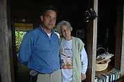 Dorothy Twyman and son at Old Tavern Blue Mountain Coffee Plantation near Kingston, Jamaica.