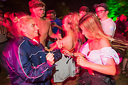 Dancing outside the Disco Shed - The 2017 Latitude Festival, Henham Park. Suffolk 15 July 2017