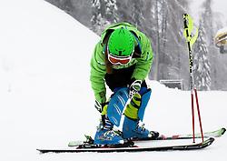 Sasa Brezovnik of Slovenia prior to the 1st Run of 50th Golden Fox Audi Alpine FIS Ski World Cup Ladies Slalom, on February 2, 2014 in Podkoren, Kranjska Gora, Slovenia. (Photo By Matic Klansek Velej / Sportida.com)