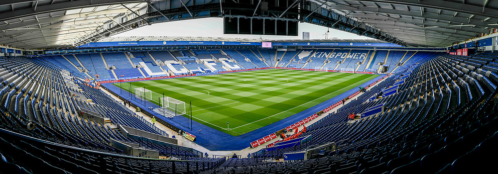 Inside the stadium of Leicester City before the Premier League match at the King Power Stadium, Leicester<br /> Picture by Matthew Usher/Focus Images Ltd +44 7902 242054<br /> 07/04/2018