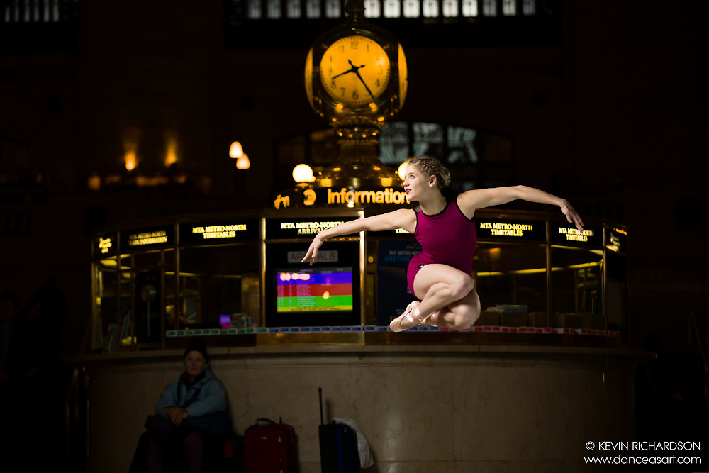 Dance As Art The New York City Photography Project Grand Central Clock Series with dancer Erika Citrin
