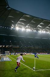 Football - soccer: germany first division, 1. Bundesliga, 2008/2009, Hamburger SV (HSV) - Eintracht Frankfurt, corner kick, Piotr Trochowski (HSV)