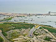 Nederland, Flevoland, Markermeer, 26-08-2019; Marker Wadden in het Markermeer. Overzicht, links deel haven, vogelhut in de voorgrond.<br /> Doel van het project van Natuurmonumenten en Rijkswaterstaat is natuurherstel, met name verbetering van de ecologie in het gebied, in het bijzonder de kwaliteit van bodem en water<br /> Naast het hoofdeiland is er inmiddels een tweede eiland in wording, de uiteindelijk Marker Wadden archipel zal uit vijf eilanden bestaan. <br /> Marker Wadden, artifial islands. The aim of the project is to restore the ecology in the area, in particular the quality of soil and water.<br /> The first phase of the construction, the main island, is finished. <br /> <br /> luchtfoto (toeslag op standard tarieven);<br /> aerial photo (additional fee required);<br /> copyright foto/photo Siebe Swart